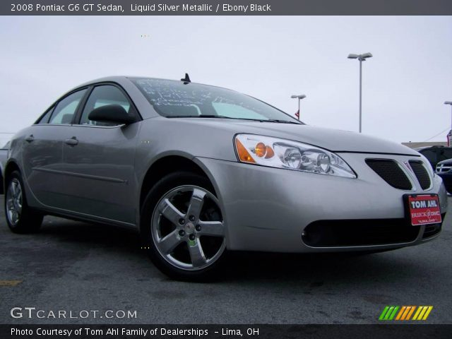 2008 Pontiac G6 GT Sedan in Liquid Silver Metallic. Click to see large ...