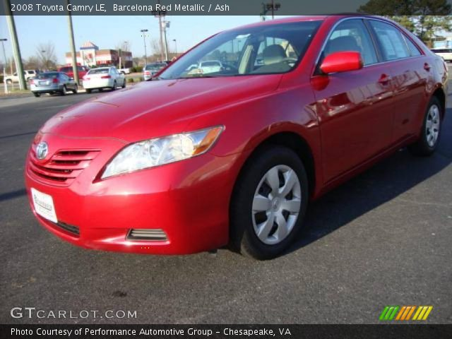 barcelona red metallic 2008 toyota camry le ash interior vehicle archive. Black Bedroom Furniture Sets. Home Design Ideas