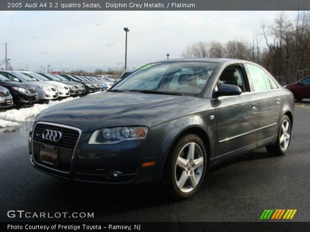dolphin grey metallic 2005 audi a4 3 2 quattro sedan platinum interior. Black Bedroom Furniture Sets. Home Design Ideas