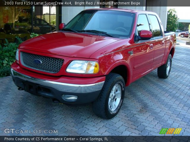 2003 Ford F150 Lariat SuperCrew 4x4 in Bright Red