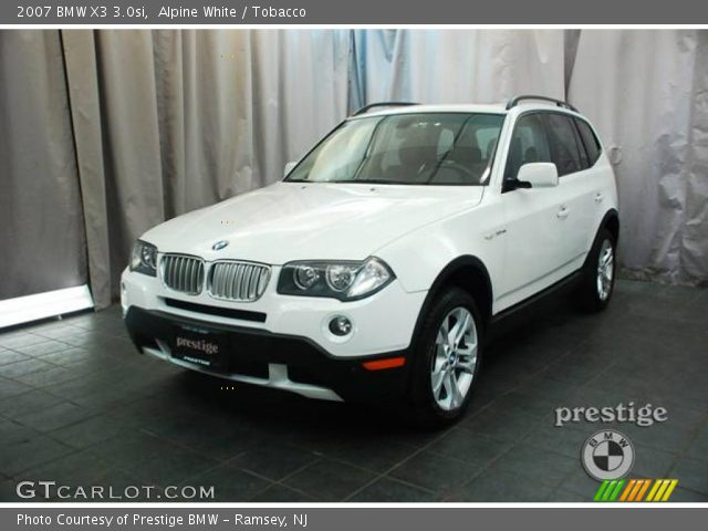 alpine white 2007 bmw x3 tobacco interior vehicle archive 24125300. Black Bedroom Furniture Sets. Home Design Ideas