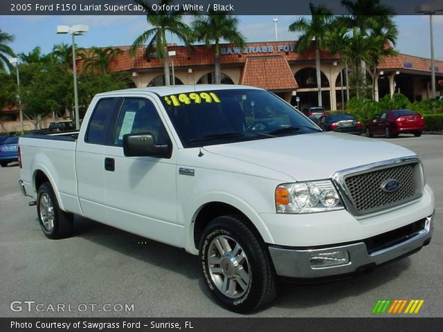 2005 ford f150 lariat supercab in oxford white click to see large. Black Bedroom Furniture Sets. Home Design Ideas
