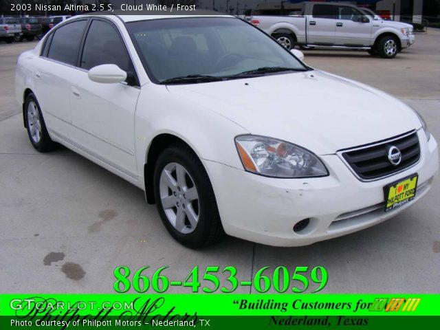 cloud white 2003 nissan altima 2 5 s frost interior. Black Bedroom Furniture Sets. Home Design Ideas
