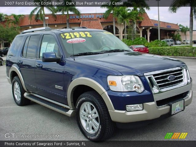 dark blue pearl metallic 2007 ford explorer eddie bauer camel interior. Black Bedroom Furniture Sets. Home Design Ideas