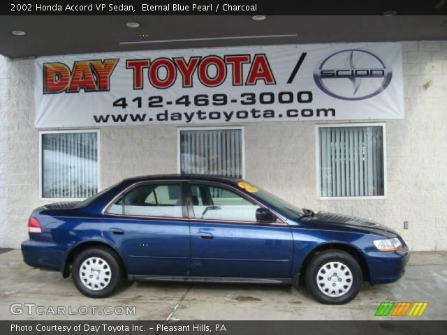 2002 Honda Accord VP Sedan in Eternal Blue Pearl