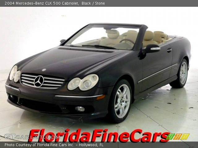Black 2004 mercedes benz clk 500 cabriolet stone for 2004 mercedes benz clk 500
