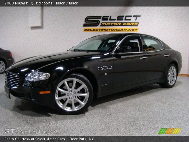 black 2008 maserati quattroporte black interior vehicle archive 24387565. Black Bedroom Furniture Sets. Home Design Ideas