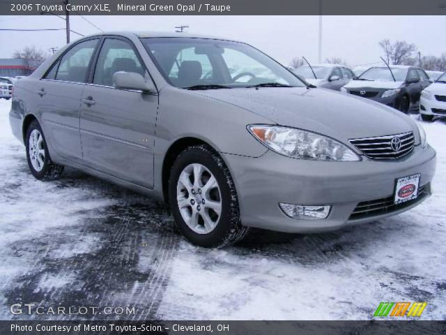 mineral green opal 2006 toyota camry xle taupe interior vehicle archive. Black Bedroom Furniture Sets. Home Design Ideas