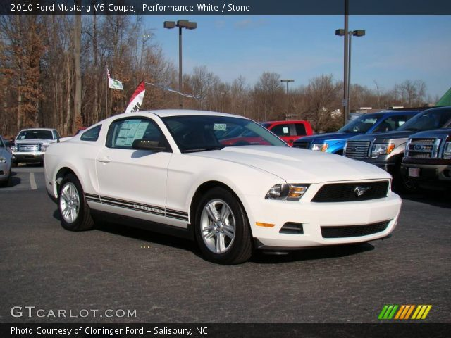 performance white 2010 ford mustang v6 coupe stone. Black Bedroom Furniture Sets. Home Design Ideas