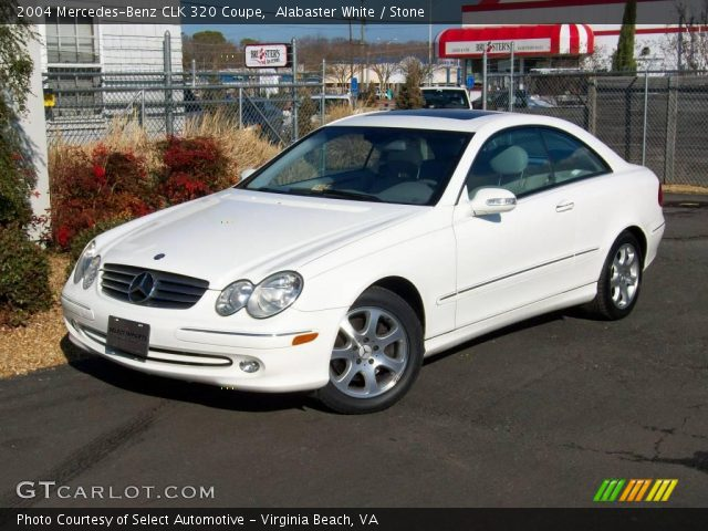 alabaster white 2004 mercedes benz clk 320 coupe stone. Black Bedroom Furniture Sets. Home Design Ideas