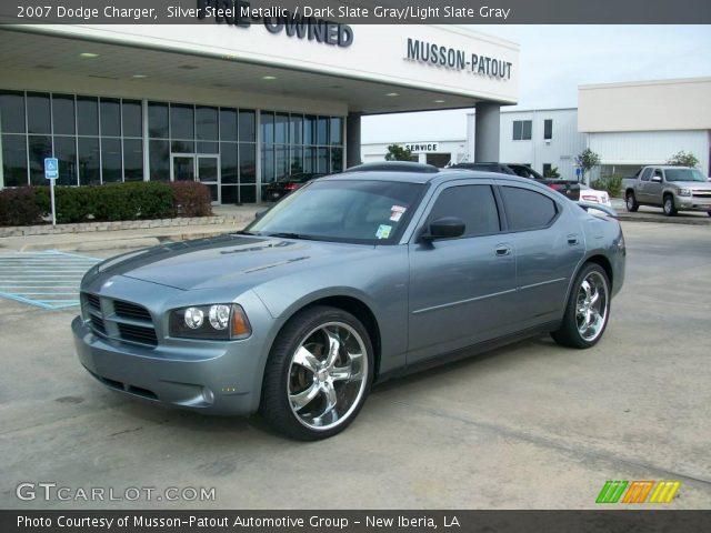 Silver Steel Metallic - 2007 Dodge Charger - Dark Slate Gray