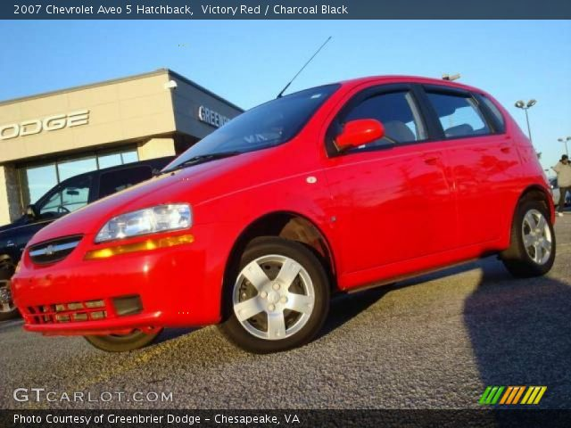 victory red 2007 chevrolet aveo 5 hatchback charcoal. Black Bedroom Furniture Sets. Home Design Ideas