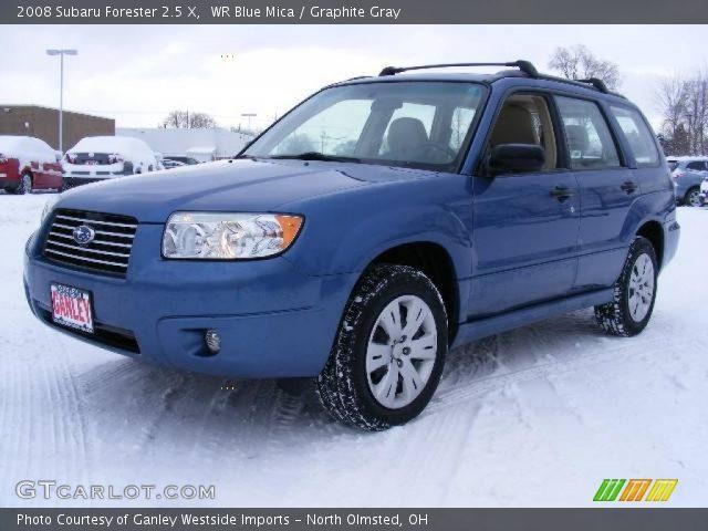 wr blue mica 2008 subaru forester 2 5 x graphite gray interior vehicle. Black Bedroom Furniture Sets. Home Design Ideas