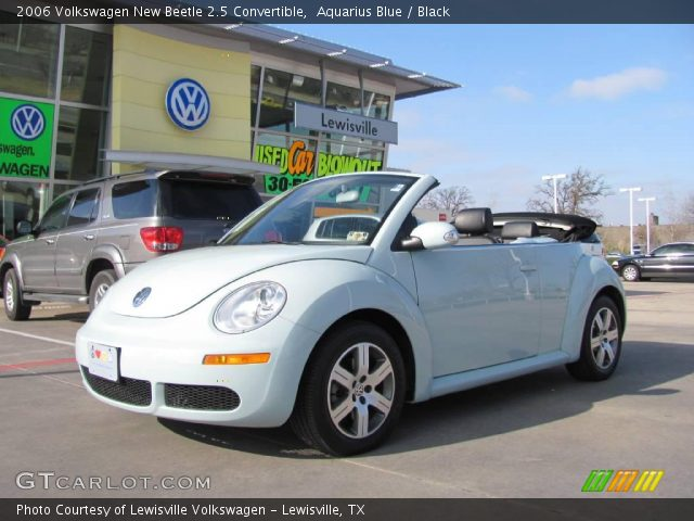 aquarius blue 2006 volkswagen new beetle 2 5 convertible black interior. Black Bedroom Furniture Sets. Home Design Ideas
