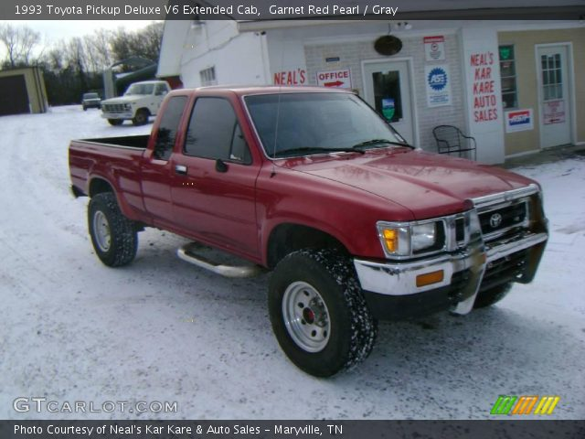 1993 Toyota Pickup Deluxe V6 Extended Cab in Garnet Red Pearl