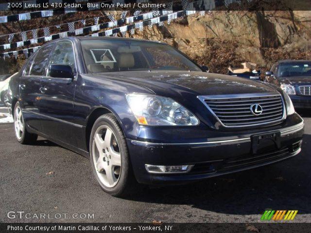 blue onyx pearl 2005 lexus ls 430 sedan cashmere. Black Bedroom Furniture Sets. Home Design Ideas