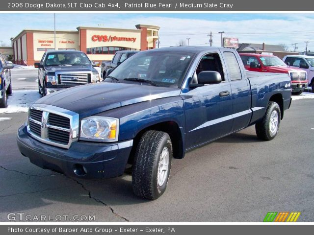 patriot blue pearl 2006 dodge dakota slt club cab 4x4 medium slate gray interior gtcarlot. Black Bedroom Furniture Sets. Home Design Ideas