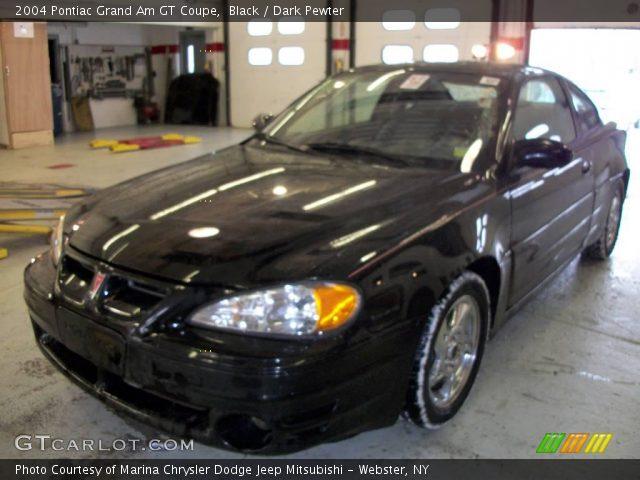 black 2004 pontiac grand am gt coupe dark pewter interior vehicle archive. Black Bedroom Furniture Sets. Home Design Ideas