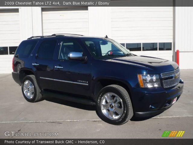 Dark Blue Metallic 2009 Chevrolet Tahoe Ltz 4x4 Ebony Interior Vehicle