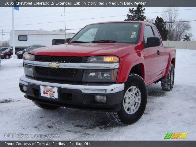 Victory red 2005 chevrolet colorado ls extended cab - 2005 chevy colorado interior parts ...