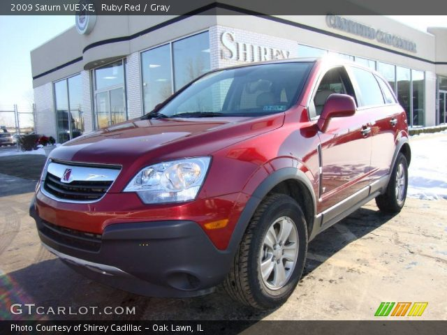 ruby red 2009 saturn vue xe gray interior vehicle archive 24588350. Black Bedroom Furniture Sets. Home Design Ideas