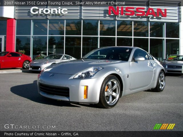 silver alloy metallic 2007 nissan 350z grand touring coupe charcoal interior. Black Bedroom Furniture Sets. Home Design Ideas