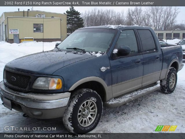 2002 Ford F150 King Ranch SuperCrew 4x4 in True Blue Metallic