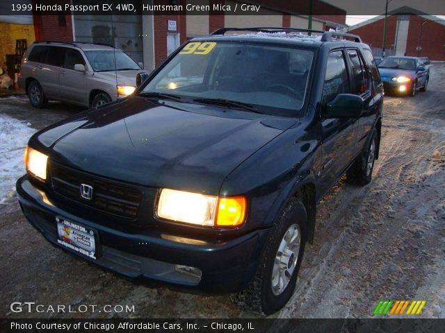 Huntsman Green Mica 1999 Honda Passport Ex 4wd Gray Interior Vehicle