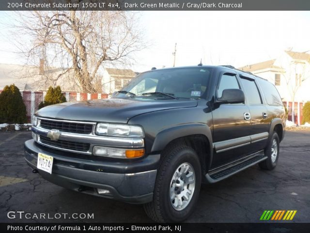 dark green metallic 2004 chevrolet suburban 1500 lt 4x4. Black Bedroom Furniture Sets. Home Design Ideas