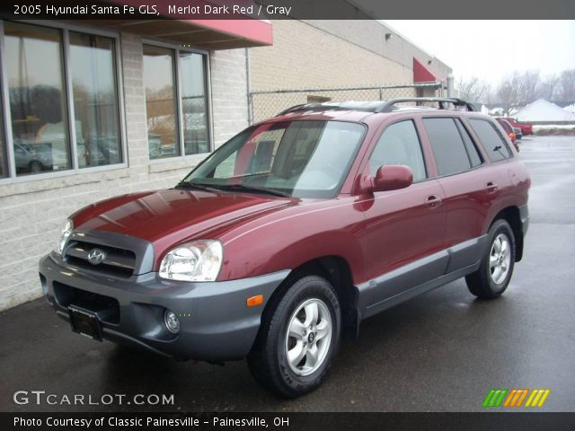 Merlot Dark Red 2005 Hyundai Santa Fe Gls Gray Interior Vehicle Archive