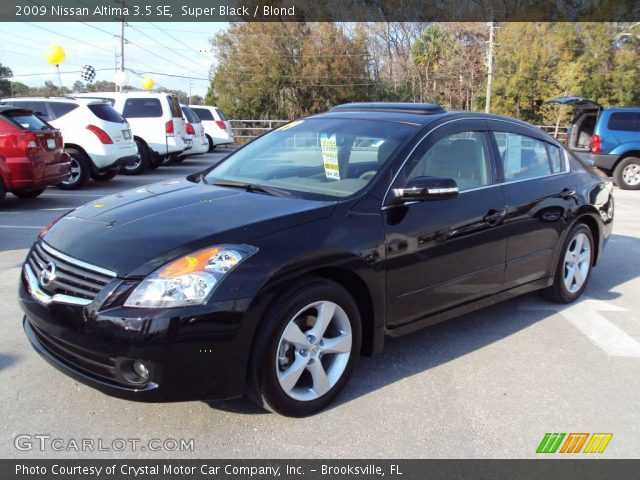 Nissan Altima 2009 Black Super Black - 2009 Nissan Altima 3.5 SE - Blond Interior ...