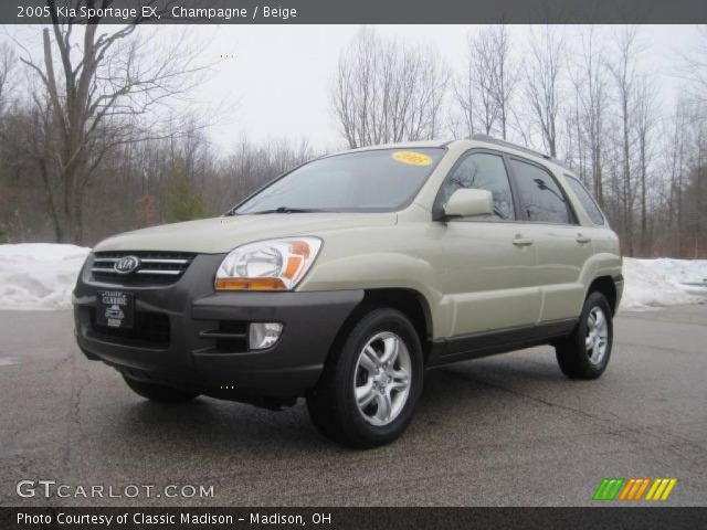 champagne 2005 kia sportage ex beige interior. Black Bedroom Furniture Sets. Home Design Ideas