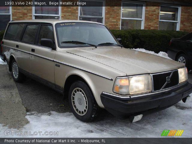 Beige Metallic - 1993 Volvo 240 Wagon - Beige Interior | GTCarLot.com ...