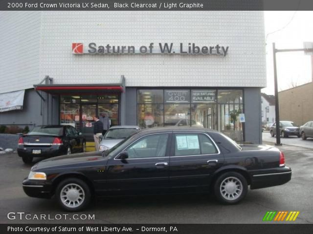 black clearcoat 2000 ford crown victoria lx sedan light graphite interior. Black Bedroom Furniture Sets. Home Design Ideas
