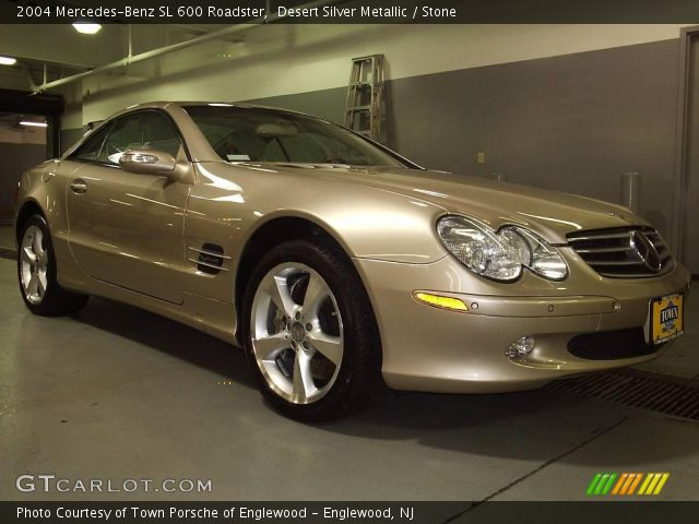 desert silver metallic 2004 mercedes benz sl 600. Black Bedroom Furniture Sets. Home Design Ideas