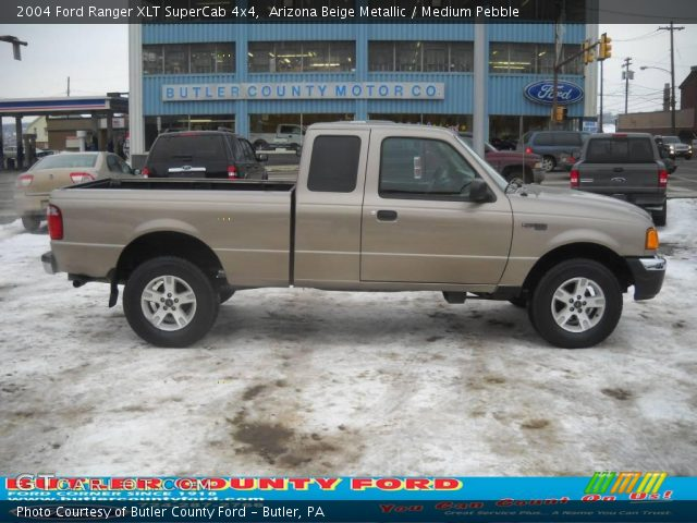 arizona beige metallic 2004 ford ranger xlt supercab 4x4 medium pebble interior gtcarlot. Black Bedroom Furniture Sets. Home Design Ideas