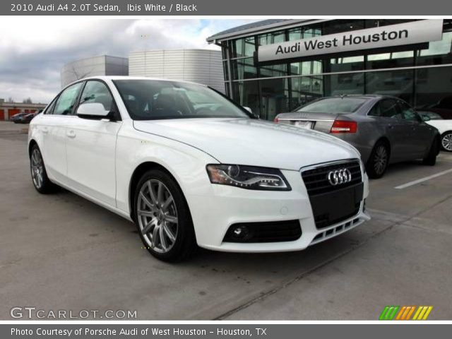 ibis white 2010 audi a4 2 0t sedan black interior. Black Bedroom Furniture Sets. Home Design Ideas
