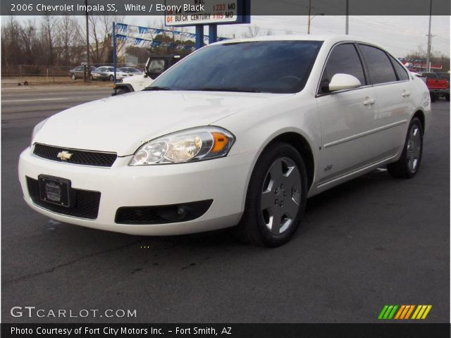 white 2006 chevrolet impala ss ebony black interior. Black Bedroom Furniture Sets. Home Design Ideas