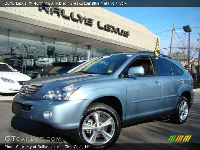 breakwater blue metallic 2008 lexus rx 400h awd hybrid. Black Bedroom Furniture Sets. Home Design Ideas