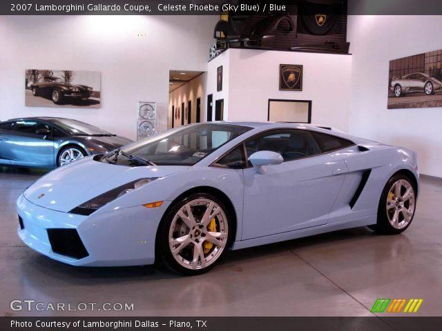 2007 Lamborghini Gallardo Coupe in Celeste Phoebe (Sky Blue)