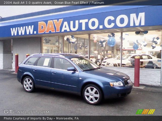 ocean blue pearl effect 2004 audi a4 3 0 quattro avant platinum interior. Black Bedroom Furniture Sets. Home Design Ideas