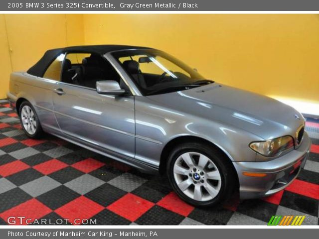 2005 BMW 3 Series 325i Convertible in Gray Green Metallic