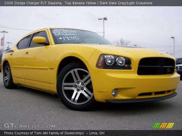 top banana yellow 2006 dodge charger r t daytona dark slate gray light graystone interior. Black Bedroom Furniture Sets. Home Design Ideas