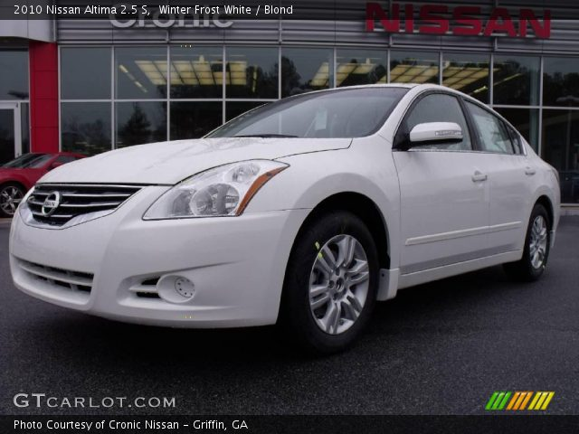 Winter Frost White 2010 Nissan Altima 2 5 S Blond Interior Vehicle Archive
