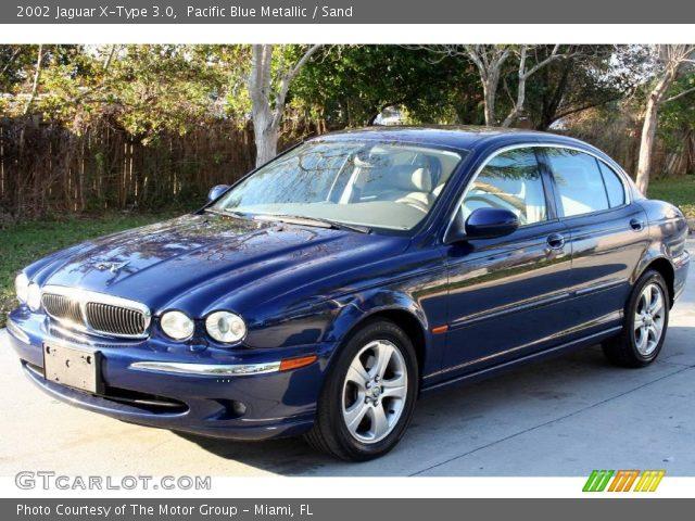 pacific blue metallic 2002 jaguar x type 3 0 sand interior vehicle archive. Black Bedroom Furniture Sets. Home Design Ideas
