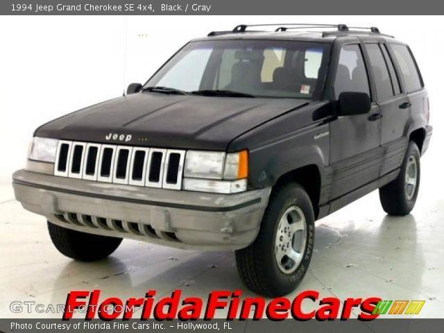 black 1994 jeep grand cherokee se 4x4 gray interior vehicle archive 25062477. Black Bedroom Furniture Sets. Home Design Ideas