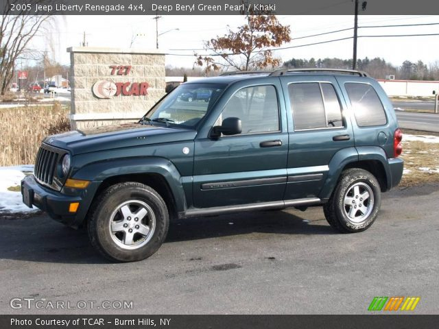 deep beryl green pearl 2005 jeep liberty renegade 4x4. Black Bedroom Furniture Sets. Home Design Ideas