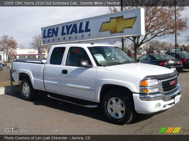 summit white 2005 gmc sierra 1500 sle extended cab neutral interior vehicle. Black Bedroom Furniture Sets. Home Design Ideas