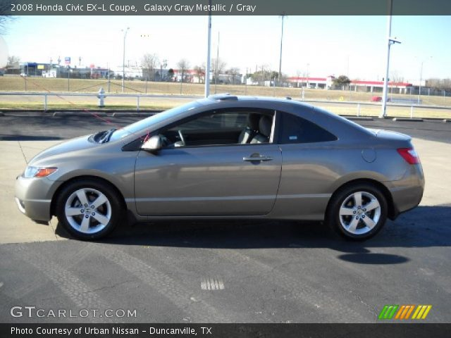 galaxy gray metallic 2008 honda civic ex l coupe gray interior vehicle. Black Bedroom Furniture Sets. Home Design Ideas