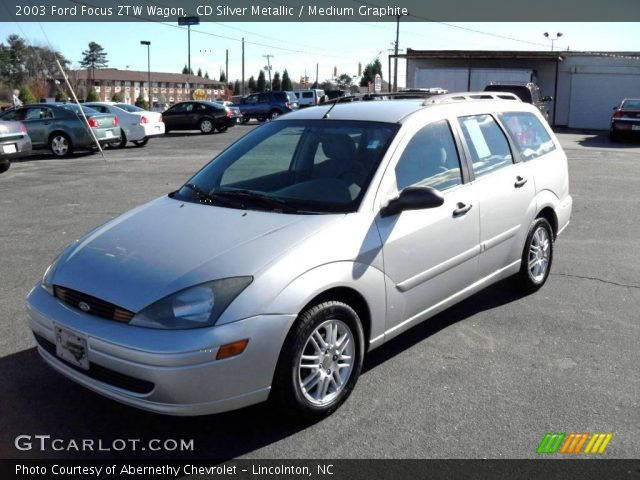 cd silver metallic 2003 ford focus ztw wagon medium. Black Bedroom Furniture Sets. Home Design Ideas